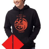 Hoodie Game Of Thrones House Targaryen - Fire And Blood