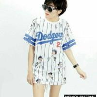 Harga dodger baseball grosir baju kaos atasan wanita | Pembandingharga.com