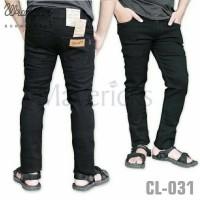 Jual [PREMIUM] Celana Denim Jeans Skinny Melar WRANGLER Hitam Pekat Murah