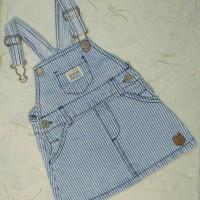 Baju Anak Overall Strips Denim Zara Baby ORIGINAL