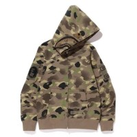 BAPE UNDEFEATED camo shark full zip hoodie