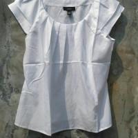 Jual Baju Branded Murah Alfani White Pleated Blouse Branded Murah Original Murah