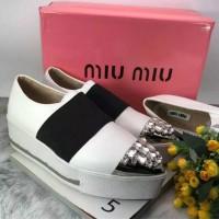 miu miu rhinestone sepatu import hk korea sneakers platform