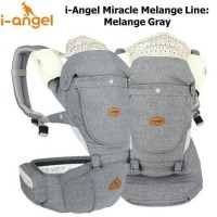 I-Angel Miracle Hipseat baby carrier melange grey