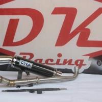 knalpot racing yamaha vega r cha rama 9 carbon