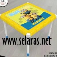 harga Meja Anak Plastik Naiba Minion Kuning Tokopedia.com