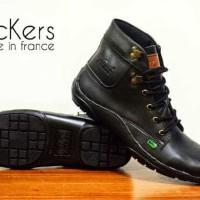 sepatu boots pria kickers krs licin 2 warna original premiu39-44 impor