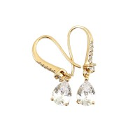 Anting Emas Mutiara Motis Tetes Air