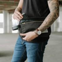 TFG Pouch Bold 402 Brown / Blue / Black - Tas gadget hand bag pria