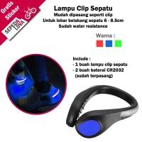Lampu Clip Sepatu Sepeda Running Jogging Malam Anti Air
