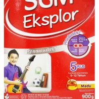 SUSU SGM EKSPLOR 5+ MADU 900GR 5 PLUS RASA MADU 900 GRAM SUSU BUBUK