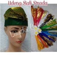Udeng Bali Prada Setengah Jadi Ikat Kepala Pakaian Adat Bali Lenatha
