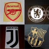 Cutting Sticker / Stiker Bola Logo New Juventus / Lambang Juve Baru