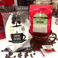 Jual Paket kopi hitam arabika n drip lengkap manual brew v60 black coffee Murah