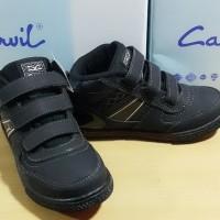 TERLARIS sepatu anak laki laki CARVIL NELSON hitam boot tempel
