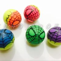 bouncing ball / bola bekel karet gambar spiderman warna warni lucu
