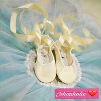 Jual Sepatu Ballet with ribbon Murah