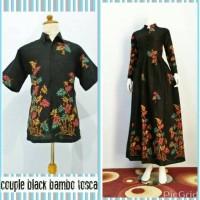 Jual Batik Couple Bambo Tosca kemeja dan gamis by Batik Damiana Murah