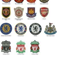 Jual Logo Patch Woven / Emblem Club Bola  Murah