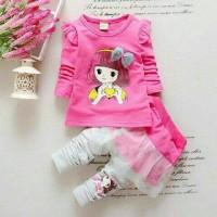 Set Kyoko kid Baju setelan anak perempuan Pakaian anak terbaru