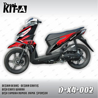 DEKAL STIKER MOTOR HONDA ALL NEW BEAT INJEKSI 2016 (D-X4-002)
