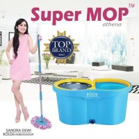 ALAT PEL LANTAI SUPER MOP ATHENA Bolde Original Wonder Magic Mop Putar