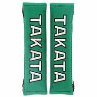 Exclusive TAKATA Racing Shoulder Pads Seat Belt Cover Green Suede ORI