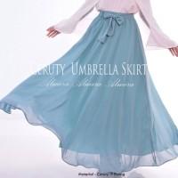 Rok Payung Panjang Muslim Chiffon Cerutti Umbrella Skirt