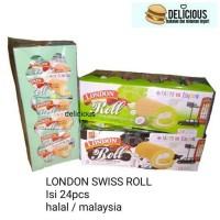 LONDON SWISS ROLL CAKE ISI 24 PCS MALAYSIA