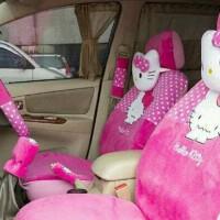Sarung Jok Mobil Universal 24in1 Motif HELLO KITTY PINK