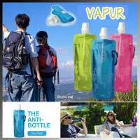 VAPUR BOTOL AIR MINUM LIPAT FOLDABLE WATER BOTTLE SABLON PROMOSI