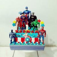kue ulang tahun captain america / super hero fondant