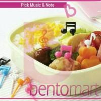 Food Pick Music Note / Tusukan Buah Bento
