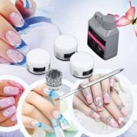 Jual Nail Art Portable Tool Kit Set Crystal Powder Acrylic Liquid Murah