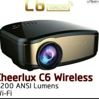 proyektor mini cheerlux c6 wifi with tv tuner,wireless anycase ready