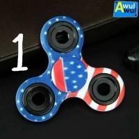Tri Fidget Spinner Toy Corak Painted | Mainan Konsentrasi