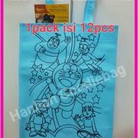 Jual tas goodiebag, spunbond, tas souvenir ulang tahun Doraemon Murah