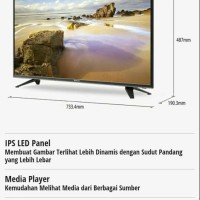 Panasonic LED TV 32 INCH TH-32E306G Digital free bracket bisa Gojek