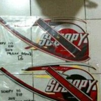 Striping Stiker List Scoopy Fi Sporty 2015 2016