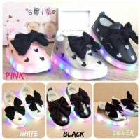 harga Shoes Led Mickey Big Ribbon 26-30 | Sepatu Anak | Sepatu Lampu Anak Tokopedia.com