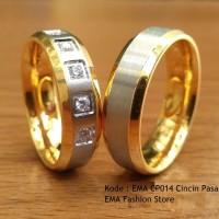 Cincin Pasangan Titanium Anti Karat EMACP014 Kota Medan