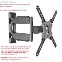 Breket/Bracket TV LCD/LED/Plasma 32-47 inci North Bayou (Swivel)