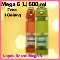 Promo!!! New MEGA 6 Size L 600ml Botol Air Terapi Diabetes