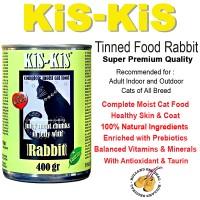 Jual CAT FOOD KIS KIS CANNED FOOD RABBIT 400 GR MAKANAN KUCING PET FOOD Murah