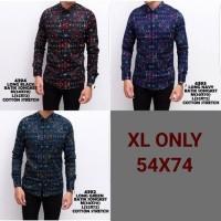 Jual baju kemeja pria | size XL only | batik songket navy Murah