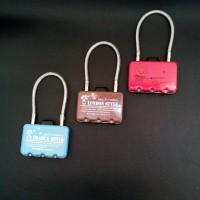 Jual GEMBOK KOPER LONDON STYLE 3 DIGIT Kombinasi Combination Lock Kado Murah
