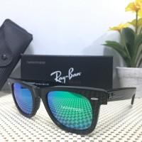 Kacamata Ray Ban Wayfarer 2140 black glossy green tosca lens