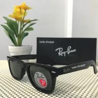 Kacamata Ray Ban Wayfarer 2140 Polarized Lens black Glossy