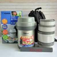 Zojirushi lunch box/ lunch jar 4 susun SL-JAF14-HG