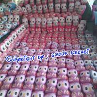 Jual souvenir ultah bantal cinta owl tinggi multidesain/ souvenir wedding Murah